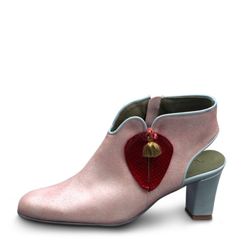 """דגם Strawberry בצבע ורוד ואדום. עקב 6 ס""""מ - נעליים אונליין, נעלי נשים מיקה דרימר"""