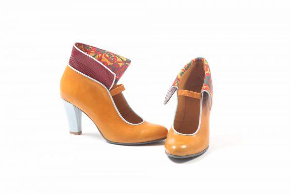 נעלי עקב דגם עלי שלכת -נעליים אונליין, נעלי נשים מיקה דרימר