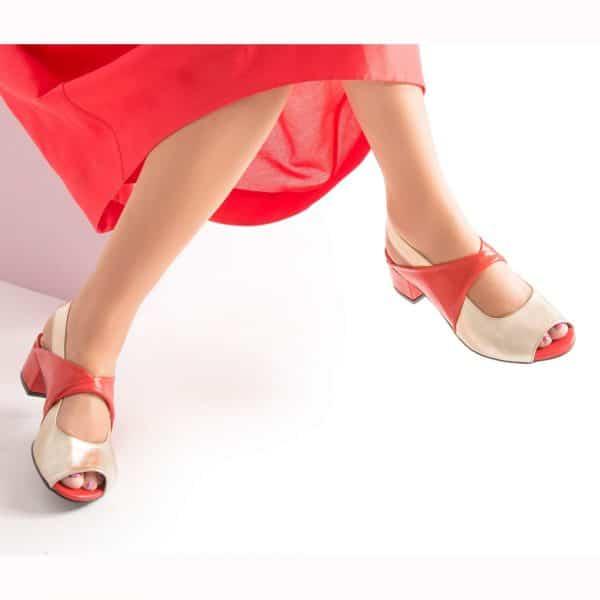סנדלי עקב אלגנטיות, סנדלים לנשים - נעליים אונליין, נעלי נשים מיקה דרימר