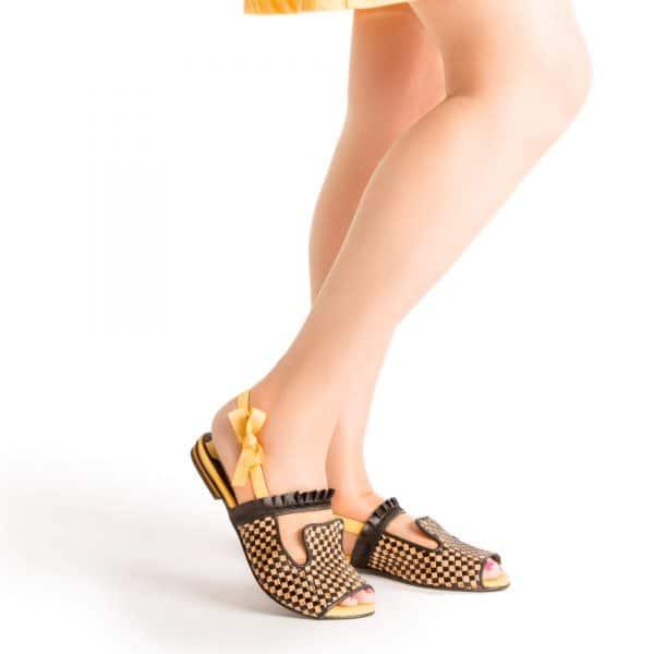 סנדלי עקב נוחות - נעליים אונליין, נעלי נשים מיקה דרימר
