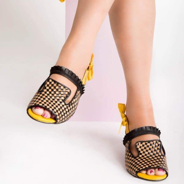 סנדלי עקב קייציות - נעליים אונליין, נעלי נשים מיקה דרימר