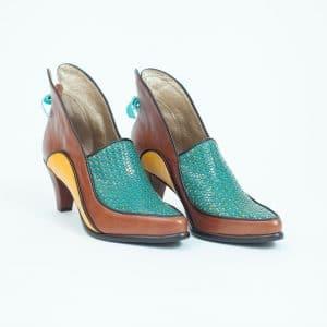 נעל עקב דגם Chocolate Orang - נעליים אונליין, נעלי נשים מיקה דרימר