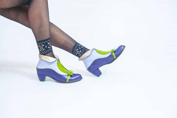 מגפונים לנשים דגם אוכמניות - נעליים אונליין, נעלי נשים מיקה דרימר